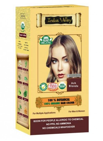 Indus Valley 100% Botanical Ash Blonde Hair Colour