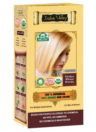 Indus Valley 100% Organic Golden Wheat Blonde Hair Colour