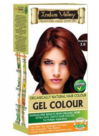 Indus Valley Natural Burgundy Gel Hair Colour
