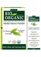 Indus Valley Bio Organic Oil and Herbal Henna Powder Combo