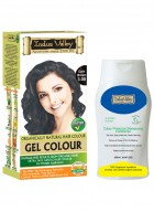 Indus Valley Dark Brown Hair Color Gel and Shampooing Conditioner Combo