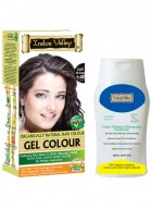 Indus Valley Organically Natural Gel Light Brown Hair Color and Shampooing Conditioner Combo