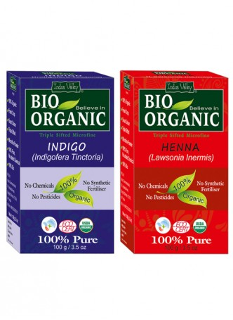 Indus Valley Bio Organic Henna Combo (Indigo and Red Henna)