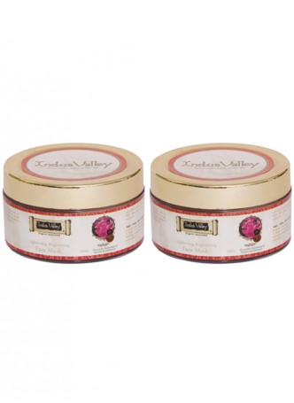 Indus Valley Organic Ayurvedic Rose Face mask - Pack of 2