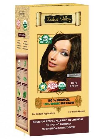 Indus Valley 100% Organic 100% botanical Dark Brown Hair Colour