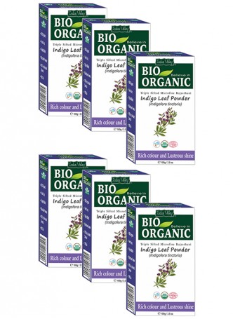 Indus Valley Bio Organic Indigo Henna (Pack of 6)