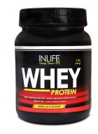 Inlife Whey Protein Powder Body Building Supplement (Vanilla Flavour, 1 lb/(454 grams))