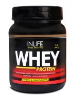Inlife Whey Protein Powder Body Building Supplement(Cookie and Cream,1 lb/(454 grams))