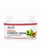 Inlife Natural Papaya Fairness Cream 100 Gm, Moisturizer For Both Men And Women (Pack of 2)