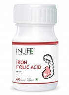 INLIFE Iron Folic Acid, 60 Tablets For Prenatal Health of  Women