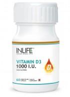 Inlife Vitamin D3 1000 IU 60 Capsules