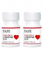 Inlife Fish Oil Omega 3 With Coenzyme Q10, 2 Pack 60 Capsules Each For Heart