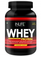 Inlife Whey Protein Powder Body Building Supplement(Coffee Flavour, 2 lb/(908 grams))