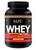 Inlife Whey Protein Powder Body Building Supplement (Chocolate Flavour, 2 lb/(908 grams))