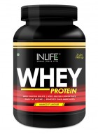 Inlife Whey Protein Powder Body Building Supplement  (Vanilla Flavour,2 lb/(908 grams))