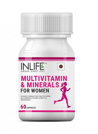INLIFE Multivitamins And Minerals Antioxidants for Women - 60 Capsules