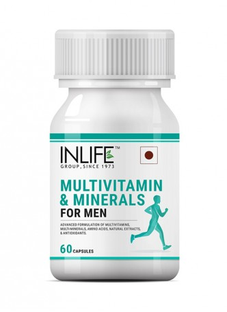 INLIFE Multivitamins And Minerals Amino Acids Antioxidants for Men - 60 Capsules