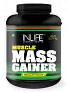 Inlife  Mass Gainer Protein Powder (5 lb / 2.27 Kgs), Chocolate Flavor, Muscle & Weight Gain