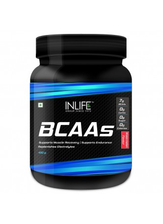 INLIFE BCAA Nutrition Energy Supplements- 450 grams Watermelon Flavour