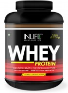 Inlife Whey Protein Powder Body Building Supplement  (Mango Flavour, 2 lb/(908 grams))