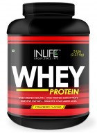 Inlife Whey Protein Powder  Body Building Supplement(Strawberry Flavour,5 lb/2.27 Kgs))