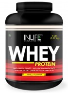 Inlife Whey Protein Powder Body Building Supplement (Vanilla Flavour, 5 lb/(2.27 Kgs))