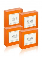Khadi Natural Herbal Orange Soap - 125g Set Of 4