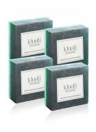 Khadi Natural Herbal Apricot Scrub Soap - 125g Set Of 4