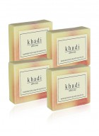 Khadi Natural Herbal Saffron Soap - 125g Set Of 4