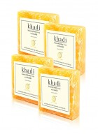 Khadi Natural Lemon and Honey Loofah Soap - 100g Set Of 4