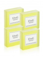 Khadi Natural Herbal Chandan Haldi Soap - 125g Set Of 4