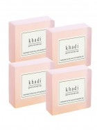 Khadi Natural Herbal Rose Water Soap - 125g Set Of 4