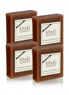 Khadi Natural Woody Sandal and Honey Soap - 100g Set Of 4