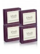 Khadi Natural Herbal Pure Lavender Soap - 125g Set Of 4