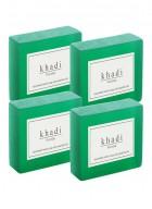 Khadi Natural Herbal Khus Soap - 125g Set Of 4