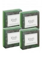 Khadi Natural Herbal Basil Scrub Soap - 125g Set Of 4