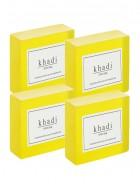 Khadi Natural Herbal Lemon Soap - 125g - 125g Set Of 4