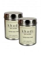Khadi Anti Wrinkle Herbal Face Mask-50g Set of 2