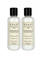 Khadi Cucumber and Aloevera Cleansing Milk Cream With Sheabutter-210ml Set of 2