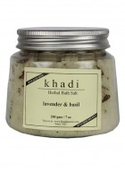 Khadi Natural Lavender and Basil Bath Salt