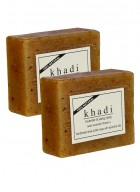 Khadi Natural Lavender and Ylang Ylang With Lavender Flowers Soap - 125g Set Of 2