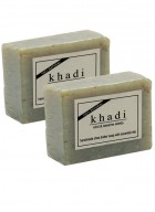 Khadi Natural Mint and Sesame Seeds Soap - 100g Set Of 2