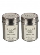 Khadi Neem, Basil and Mint Face Mask Anti Acne Sls Free-50g Set of 2