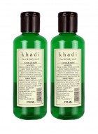 Khadi Neem and Tulsi Face and Body Wash-210ml Set of 2