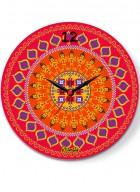Kolorobia Dazzling Ikat Glass Clock