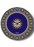 Kolorobia Moroccan Inspiration Glass Clock