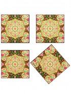 Kolorobia Mughal Blooms Coasters-Set of 4