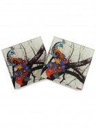 Kolorobia Unique Peacock Coasters-Set of 4