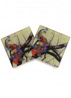 Kolorobia Charismatic Peacock Coasters-Set of 4