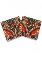 Kolorobia Majestic Paisley Coaster-Set of 4